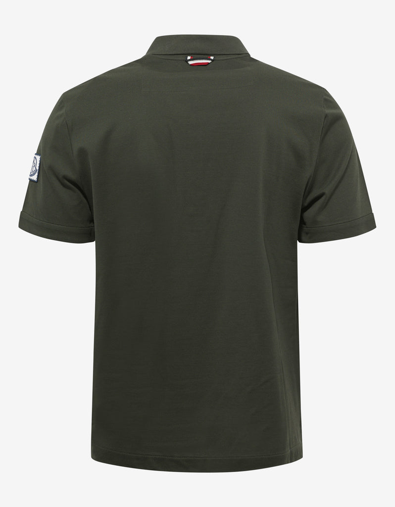 Olive Green Pique Cotton Polo T-Shirt