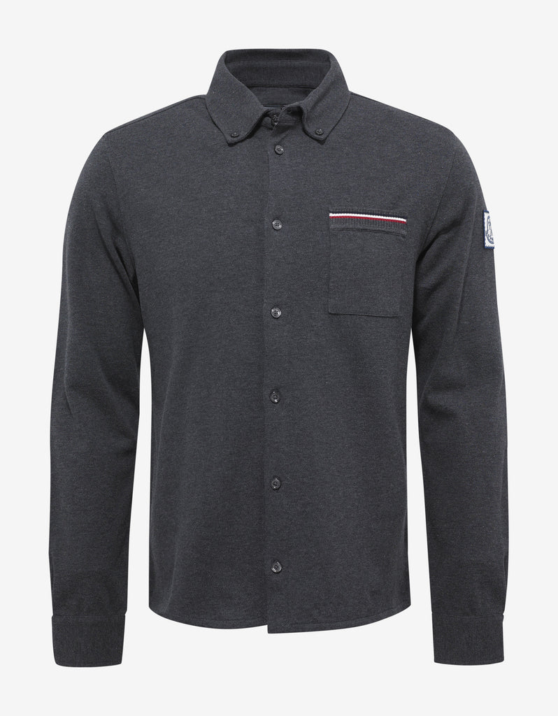 Grey Pique Cotton Shirt