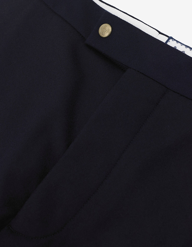 Navy Blue Wool Flannel Trousers