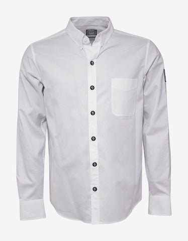 Moncler Gamme Bleu White Button-Down Collar Shirt