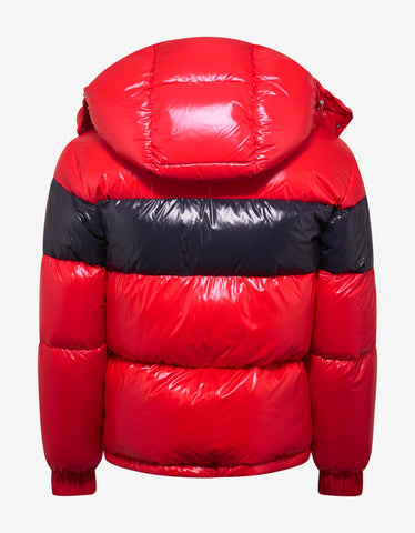 Moncler Gary Red Nylon Down Jacket