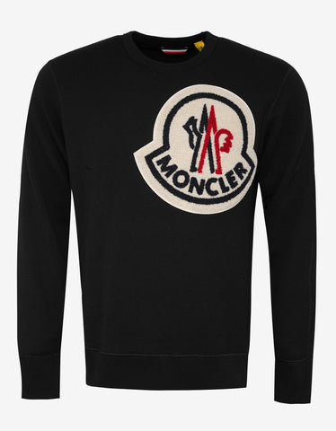 2 Moncler 1952 Black Big Logo Sweatshirt