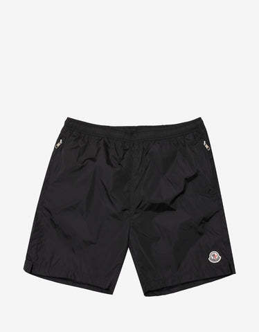 2 Moncler 1952 Black Nylon Bermuda Shorts