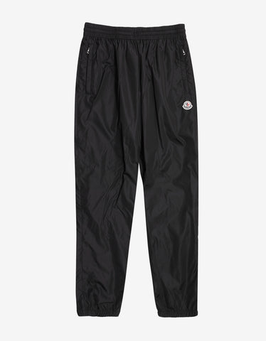 2 Moncler 1952 Black Nylon Sports Trousers