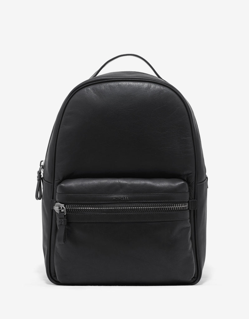 George Black Leather Backpack