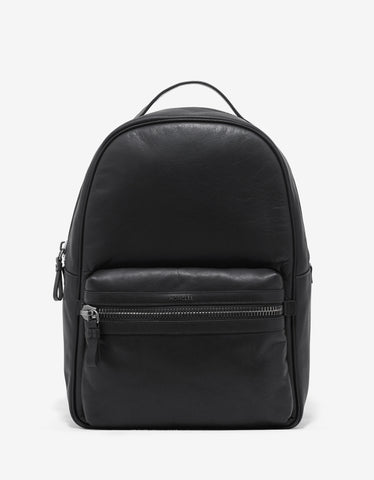 Moncler George Black Leather Backpack