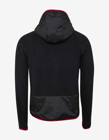 Moncler Grenoble Black & Green Hooded Fleece Sweatshirt