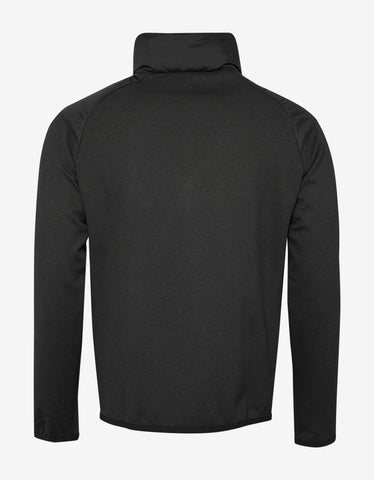 Moncler Grenoble Black Nylon Front Zip Sweatshirt