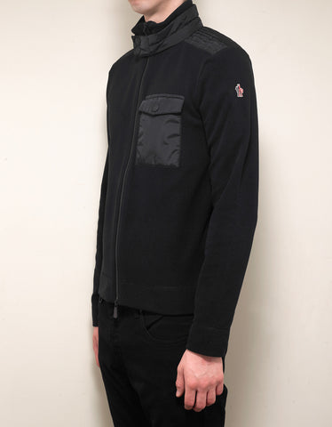 Moncler Grenoble Black Nylon Panel Fleece