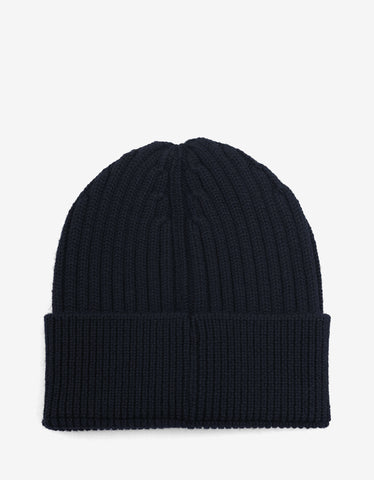 Moncler Grenoble Navy Blue Beanie Hat with Logo