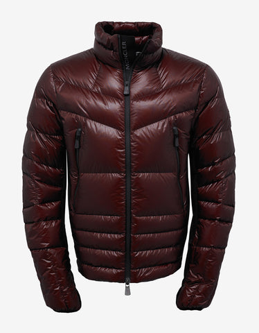 Moncler Grenoble Canmore Burgundy Nylon Down Jacket