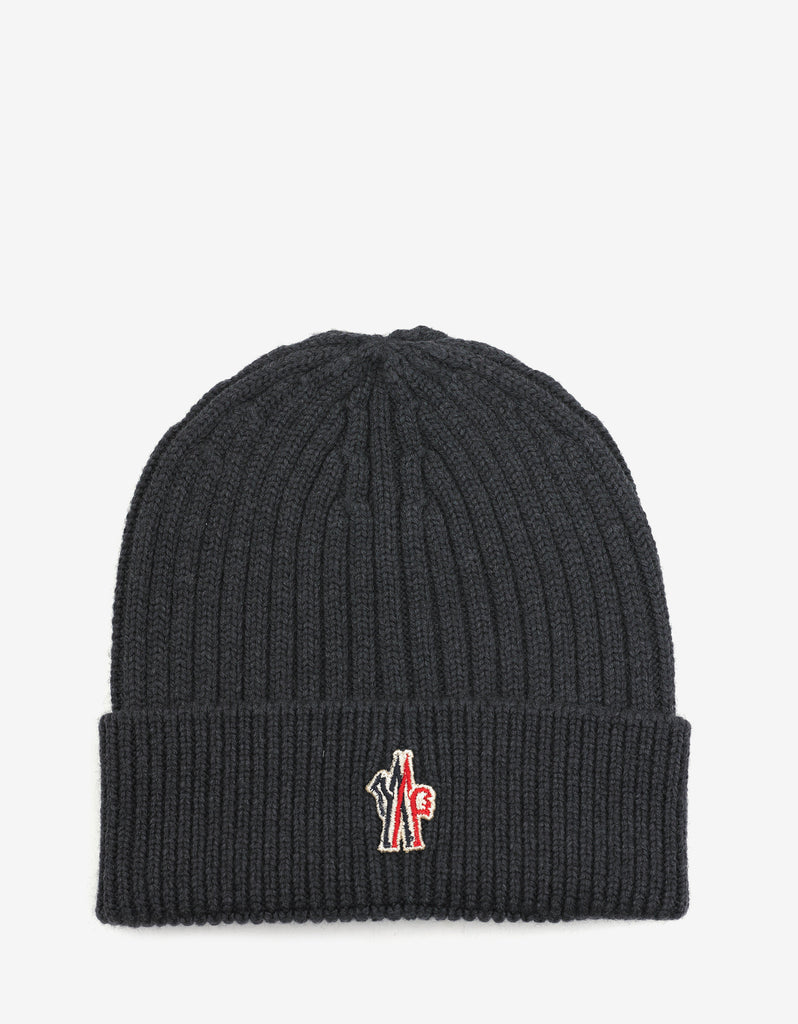 Grey Beanie Hat with Logo
