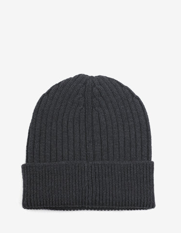 Moncler Grenoble Grey Beanie Hat with Logo