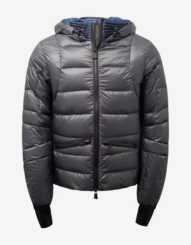 Moncler Grenoble Mouthe Grey Down Jacket