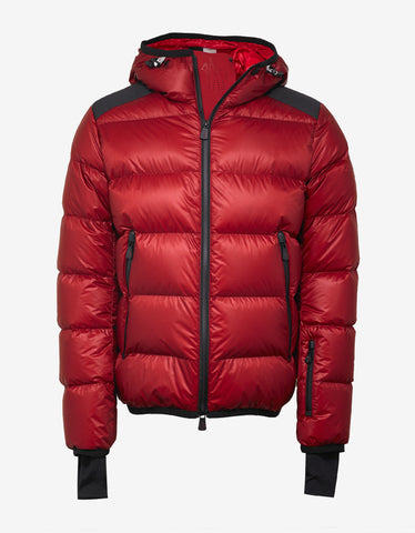 Moncler Grenoble Hintertux Red Nylon Down Jacket