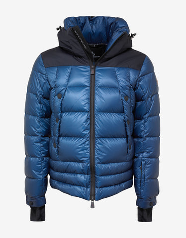Moncler Grenoble Valberg Teal Blue Down Jacket