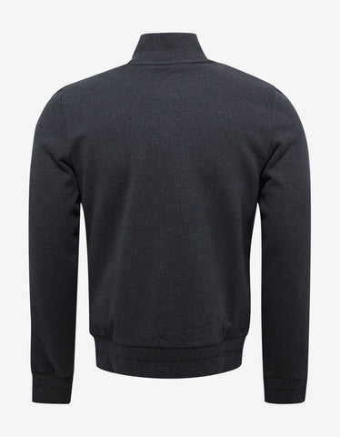 Moncler Dark Grey Funnel Neck Zip Sweatshirt