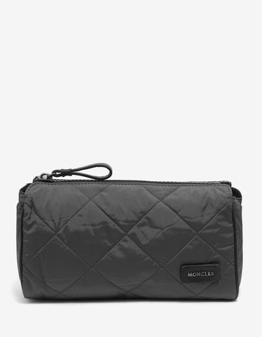 Grey Quilted Pochette