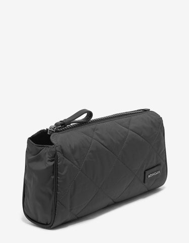Moncler Grey Quilted Pochette