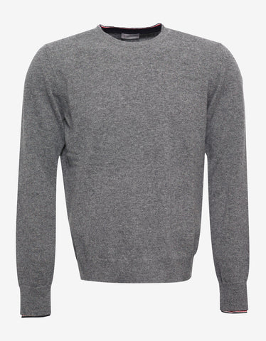 Moncler Grey Wool Sweater