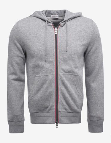 Moncler Grey Tricolour Trim Hooded Tracksuit