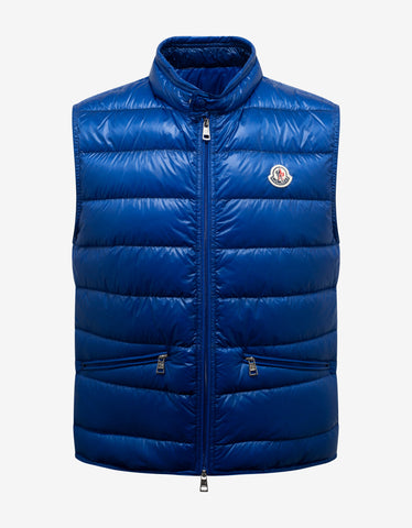 Augert Navy Blue Fur Trim Down Jacket