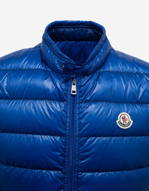 Gui Blue Nylon Down Gilet