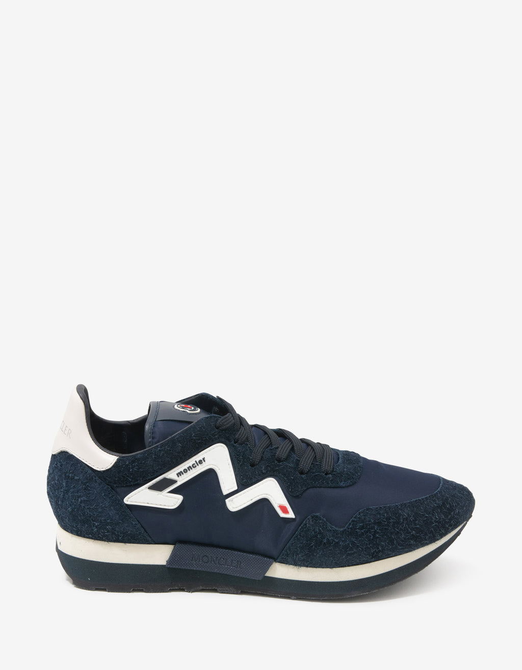 Herald Navy Blue Suede & Nylon Trainers