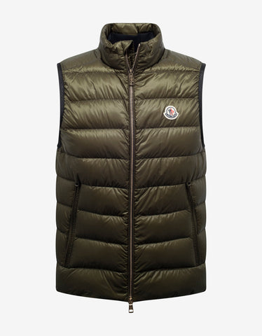 Rateau Khaki Nylon Down Jacket