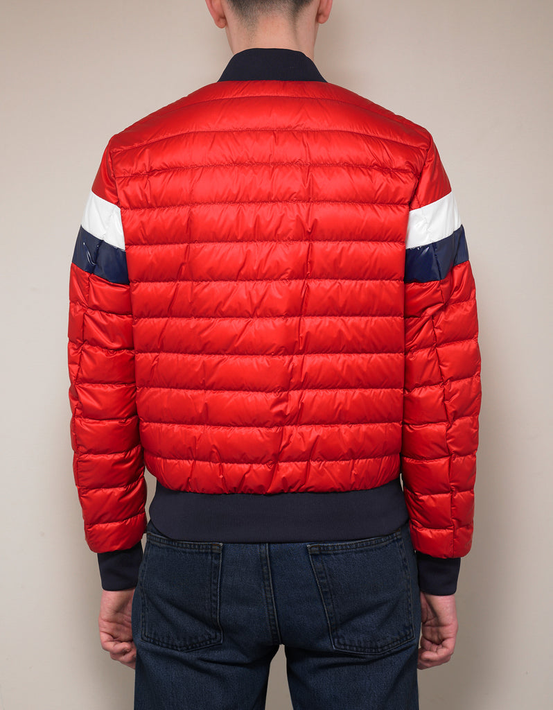 3e5f33df5 Moncler Itiner Red Nylon Down Bomber Jacket – ZOOFASHIONS.COM