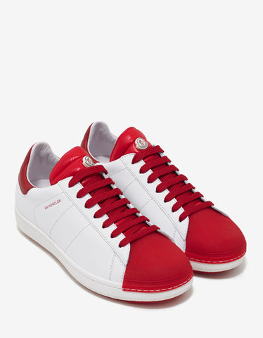 Moncler Joachim White & Red Trainers
