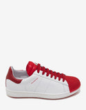 Joachim White & Red Trainers