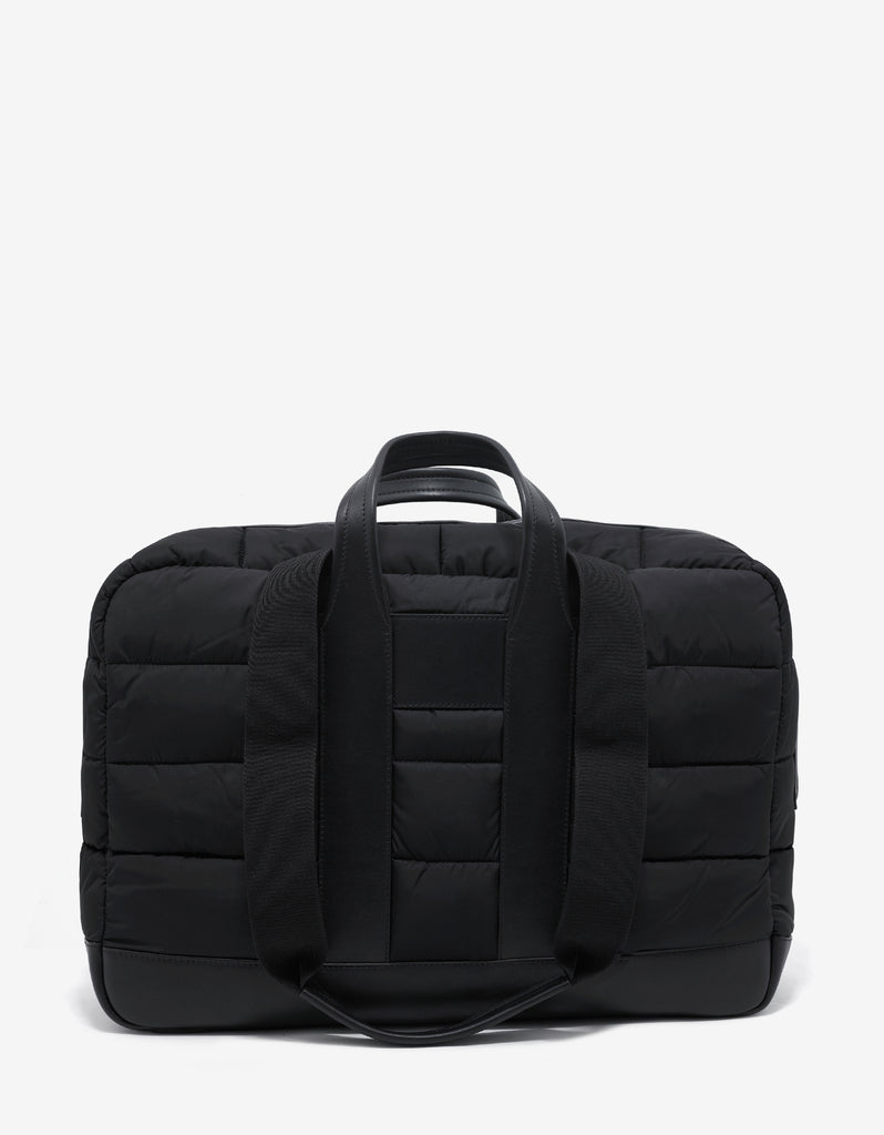 Keitu Black Quilted Nylon Holdall
