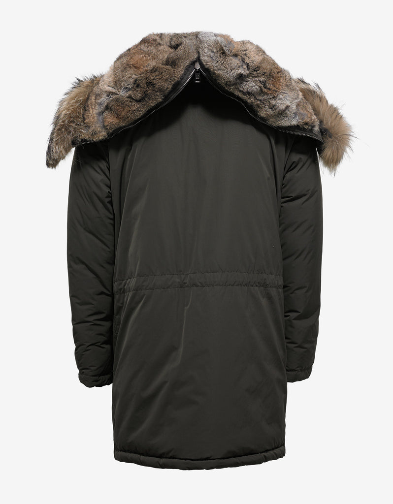 Grandalpe Green Parka with Fur Trim