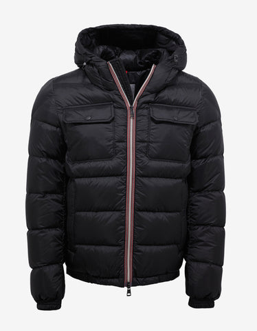 Moncler Morane Black Nylon Down Jacket