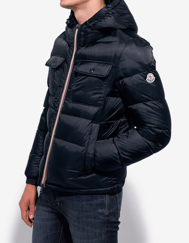 Moncler Morane Navy Blue Nylon Down Jacket