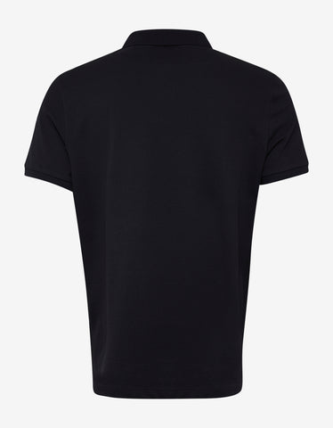 Moncler Navy Blue Colour Block Collar Polo T-Shirt