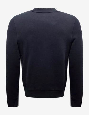 Moncler Navy Blue Logo Graphic Sweatshirt