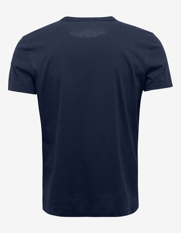 Moncler Navy Blue Logo Silhouette Graphic T-Shirt