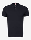 Navy Blue Tricolour Collar Polo T-Shirt