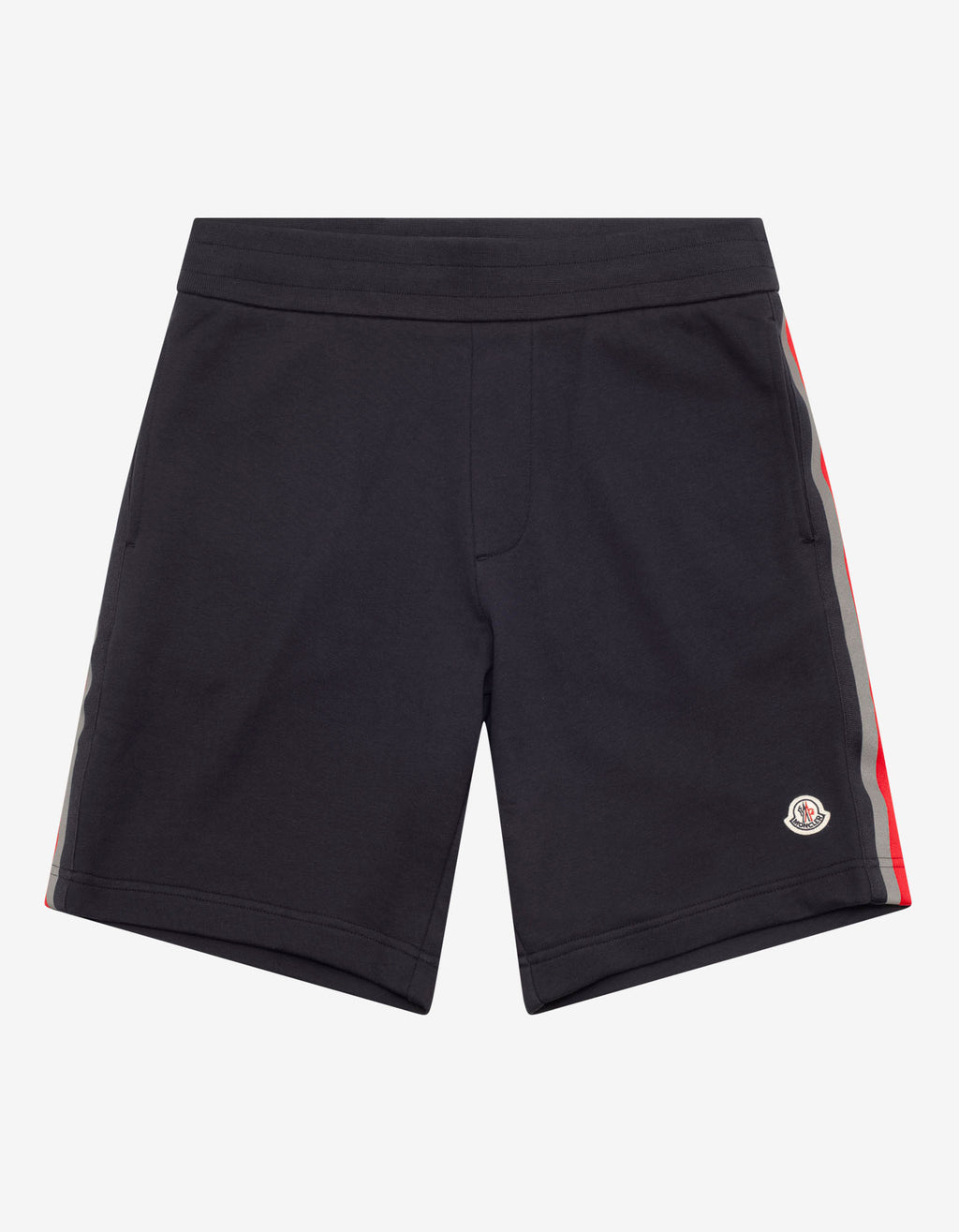 Navy Blue Tricolour Tape Sweat Shorts