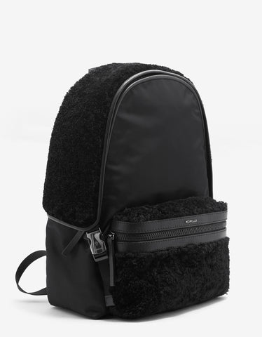 Moncler New Romeo Backpack with Sheep Fur Trim