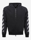 Black Hoodie with Grey Reflective Stripes