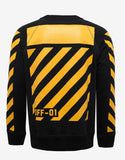 Black Sweatshirt with Yellow Print