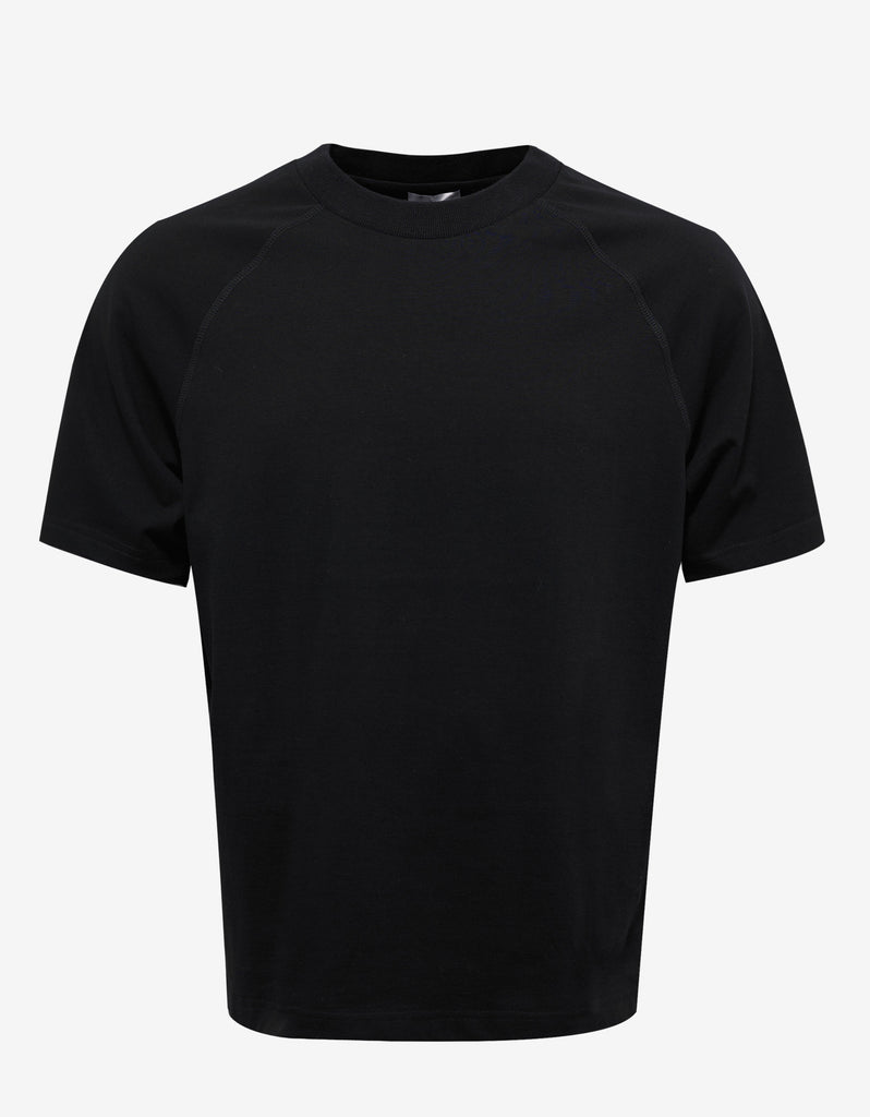 Black T-Shirt with Yellow Print
