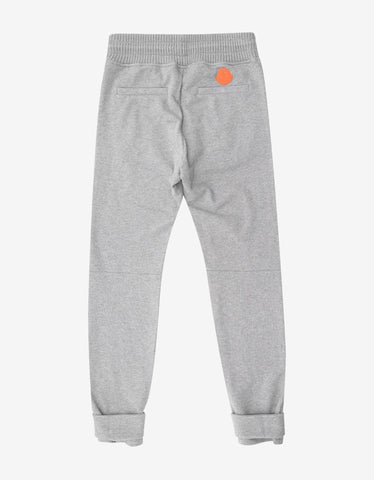 Moncler O Grey Sweat Pants with Ankle Bands