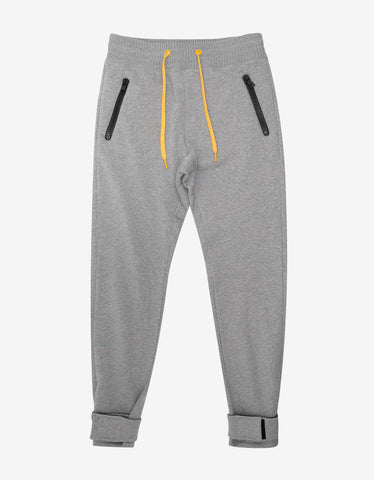 Moncler O Grey Sweat Pants with Bands
