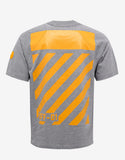 Grey T-Shirt with Yellow Print
