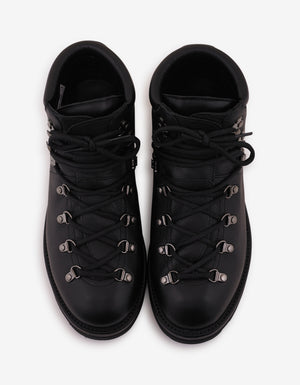Peak Black Leather Ankle Boots