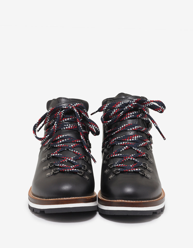 Peak Black Leather Hiking Boots
